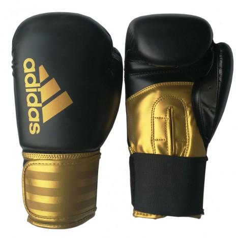 adidas Hybrid 100 (Kick)Bokshandschoenen Zwart/Goud (Handschoenen)