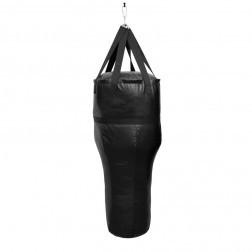 Anglebag/ Bokszak 160 cm met Hoek Zwart
