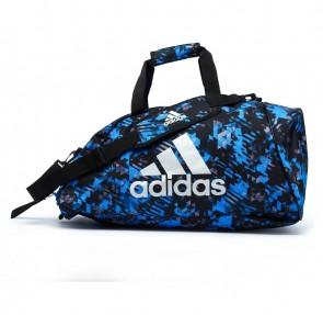 311215485cf adidas Combat Sporttas Polyester 2 in 1 Blauw Camo/Zilver