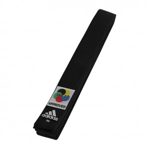 adidas Karateband Elite WKF Logo 45mm Zwart