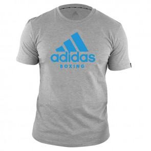 ADICTB-80610 adidas T-Shirt Boxing Community Grijs/Blauw
