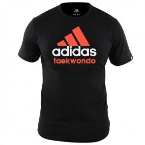 adidas Community T-Shirt Zwart/Oranje Taekwondo