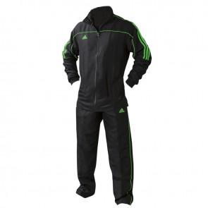adidas Team Track Trainingsjack Zwart/Groen ADITR040-ZG