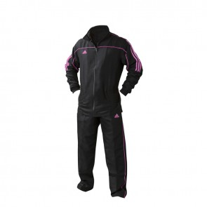 adidas Team Track Trainingsbroek Zwart/Roze