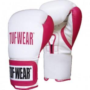 TUF Wear dames Wildcat  kickbokshandschoenen wit/roze