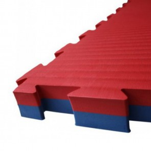 Puzzelmat 100 x 100 x 2,5 cm Rood/Blauw