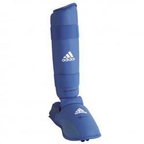 adidas WKF Scheenbeschermer Met Verwijderbare Voet Blauw