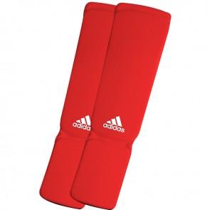 adidas elastische scheen/wreefbeschermers rood