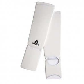 adidas elastische scheen/wreefbeschermers wit