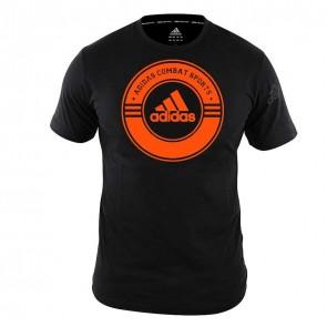 adidas T-Shirt Combat Sports Zwart/Oranje ADICST01CS-90360