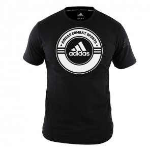 adidas T-Shirt Combat Sports Zwart/Wit ADICST01CS-90100