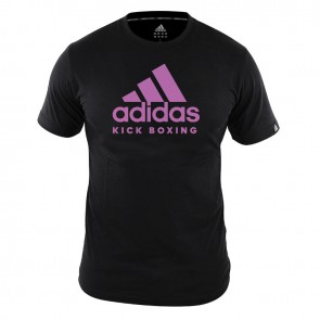 adidas T-Shirt Kickboxing Community Dames Zwart/Roze ADICTKBW-90450