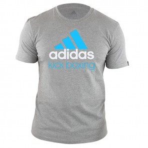 adidas Community T-Shirt Grijs/Blauw Kick Boxing