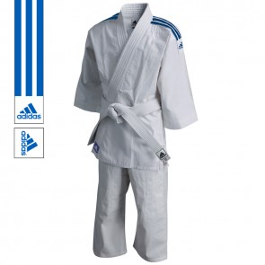 adidas Judopak J200 Evolution Wit/Blauw