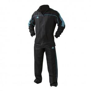 adidas Team Track Trainingsjack Zwart/Blauw