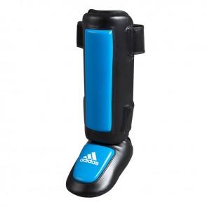 adidas Pro Style scheenbeschermers PU met gel padding Zwart/Blauw