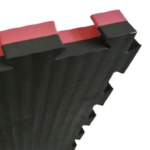 Puzzelmat 100 x 100 x 2,5 cm Zwart/rood