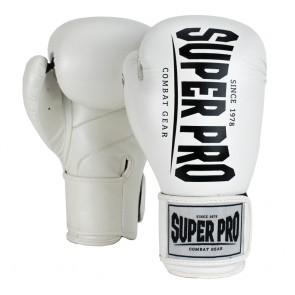 Super Pro Combat Gear Champ (kick)bokshandschoenen Wit/Zwart