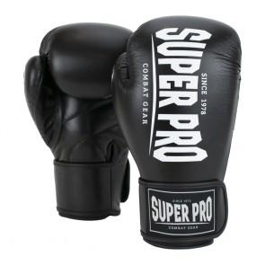 Super Pro Combat Gear Champ (kick)bokshandschoenen Zwart/Wit