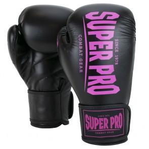 Super Pro Combat Gear Champ (kick)bokshandschoenen Zwart/Roze