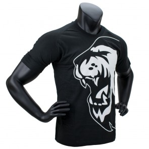 Super Pro T-Shirt Lion Logo Zwart/Wit