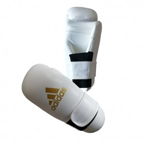 adidas Semi Contact Handschoenen Wit/Goud Small